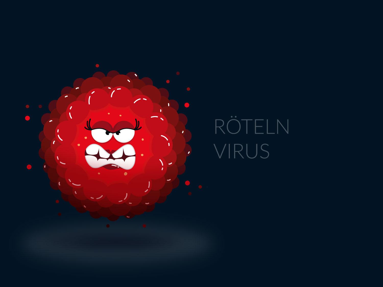 Character Design - Röteln-Virus- Elisabeth Deim