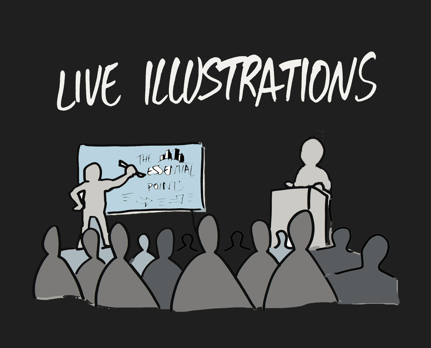 - You want to enhance collective memory? During meetings or events, we record key messages live on a big mural to help the audience digest loads of information.Read more >