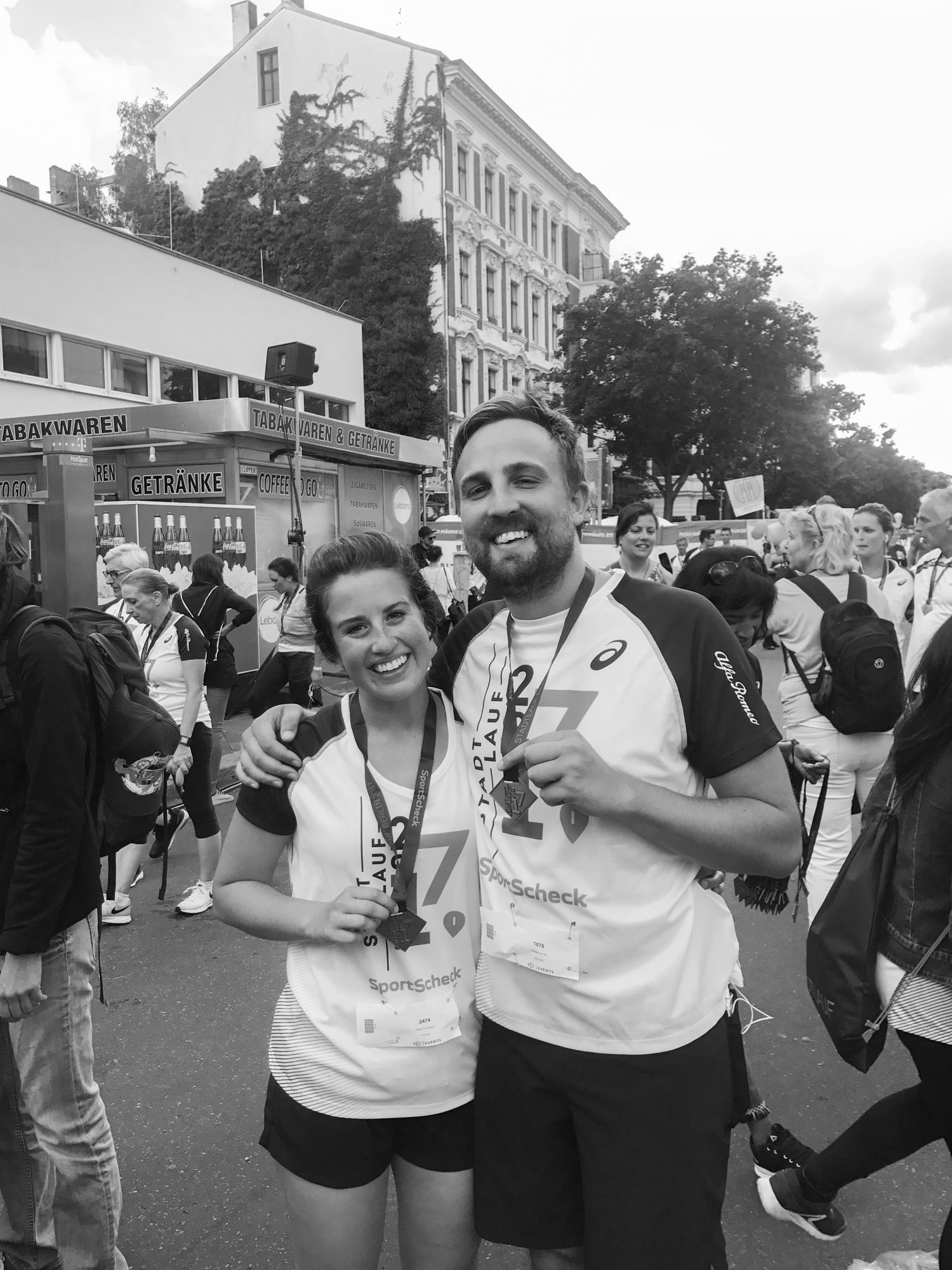 Keegan and me after my second half marathon in Berlin in August 2017