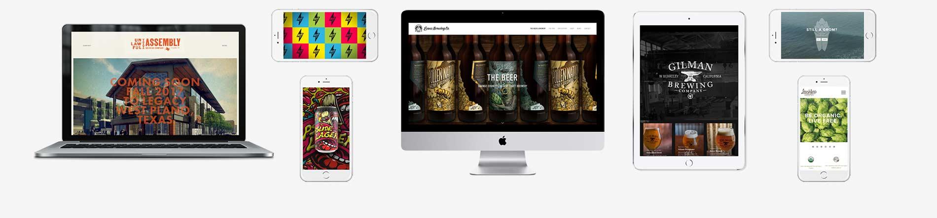 Brewery Website Design. ©Danno The Manno, Inc.