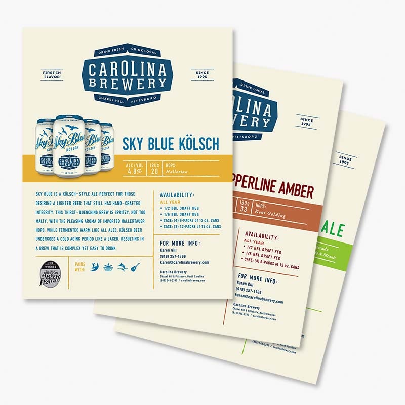 Craft Beer Sales Sheet Design