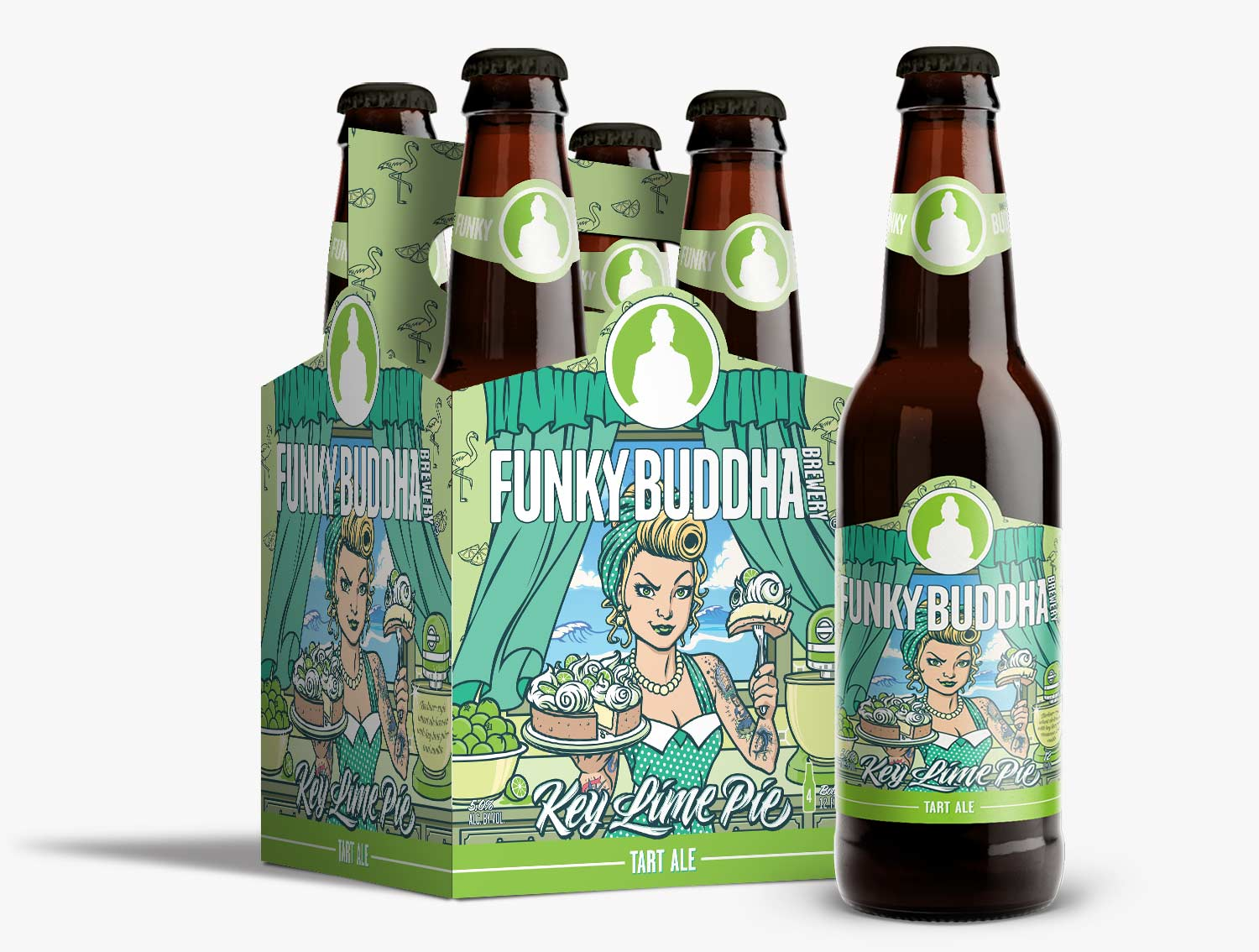 Funky Buddha Brewery Key Lime Artwork Illustration and Design