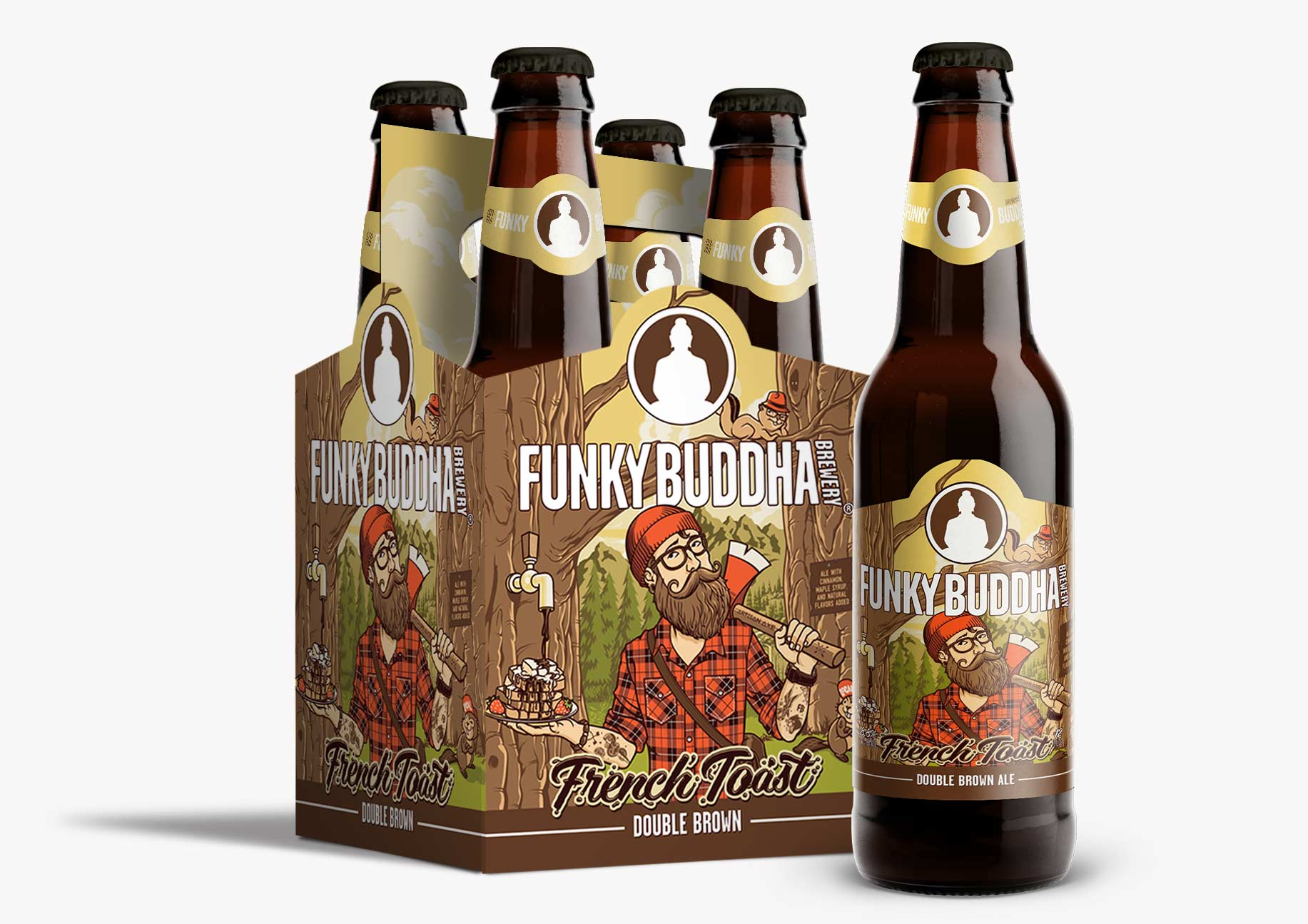 Funky Buddha Brewery French Toast Double Brown Artwork Illustration and Design