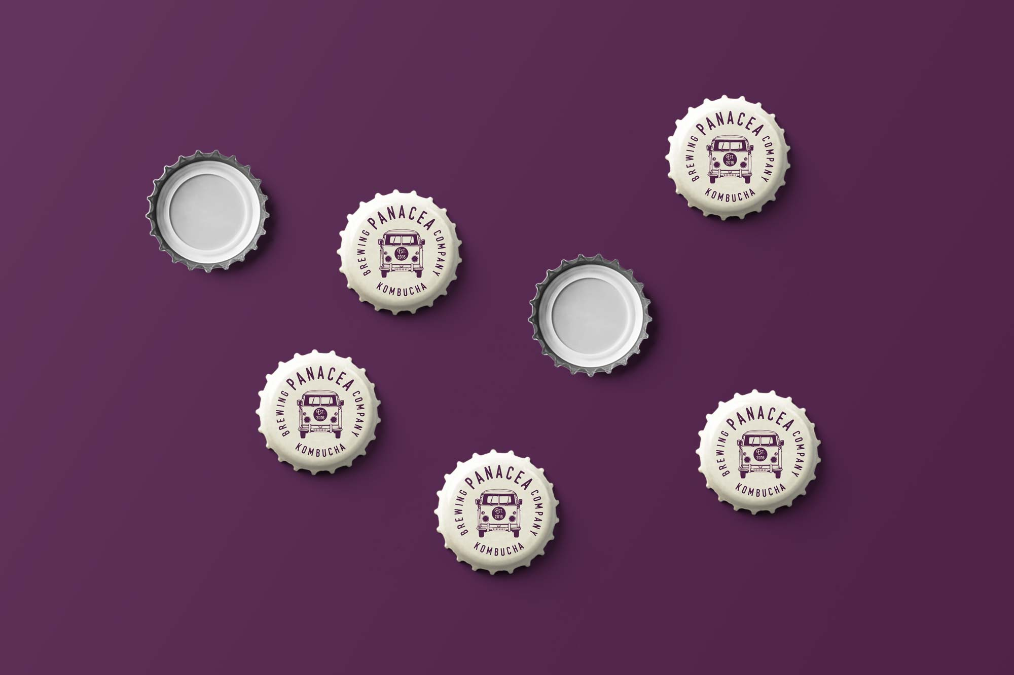 Kombucha bottle cap design