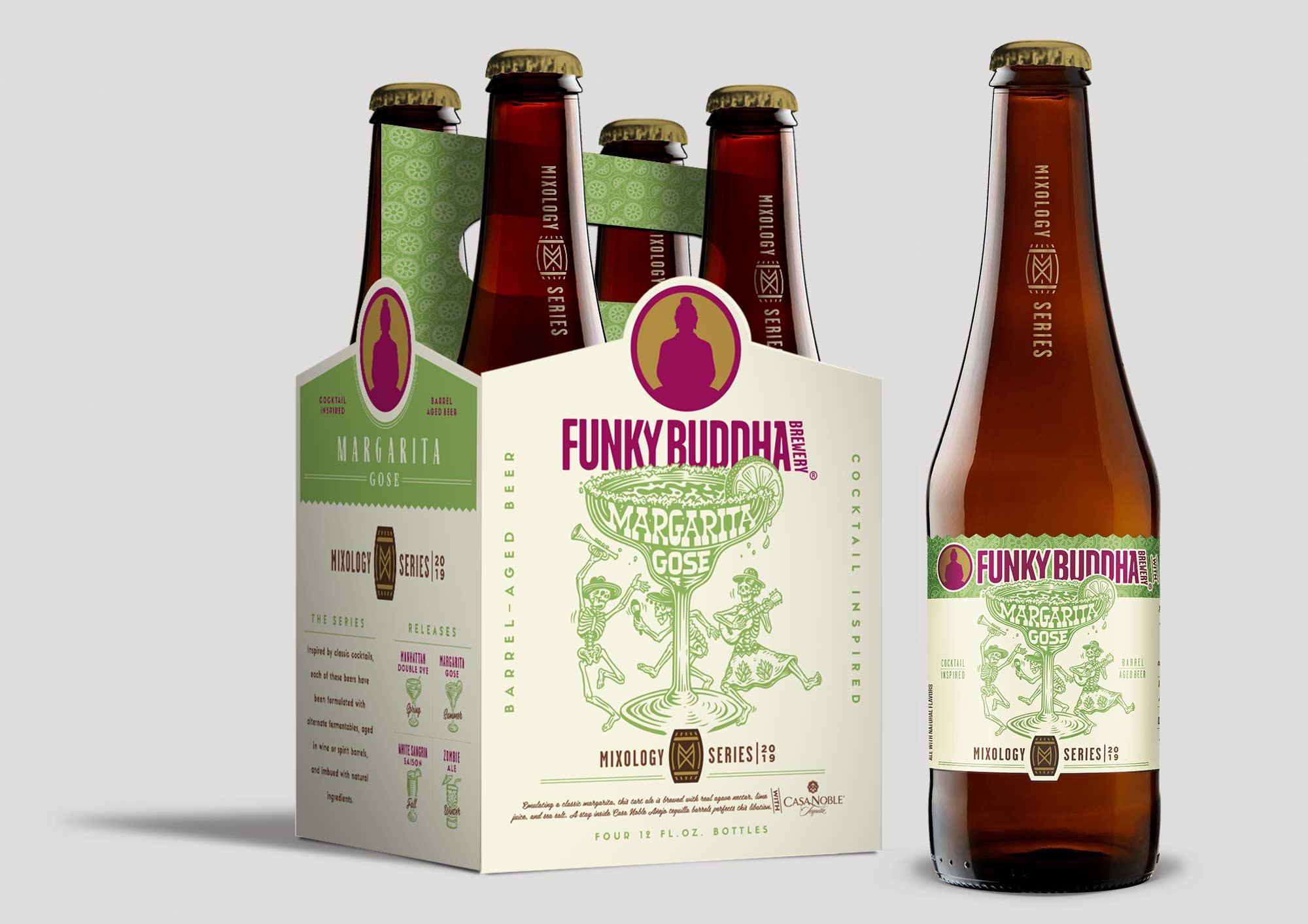 Funky Buddha Brewery Mixology Series Margarita Gose label design and illustration.