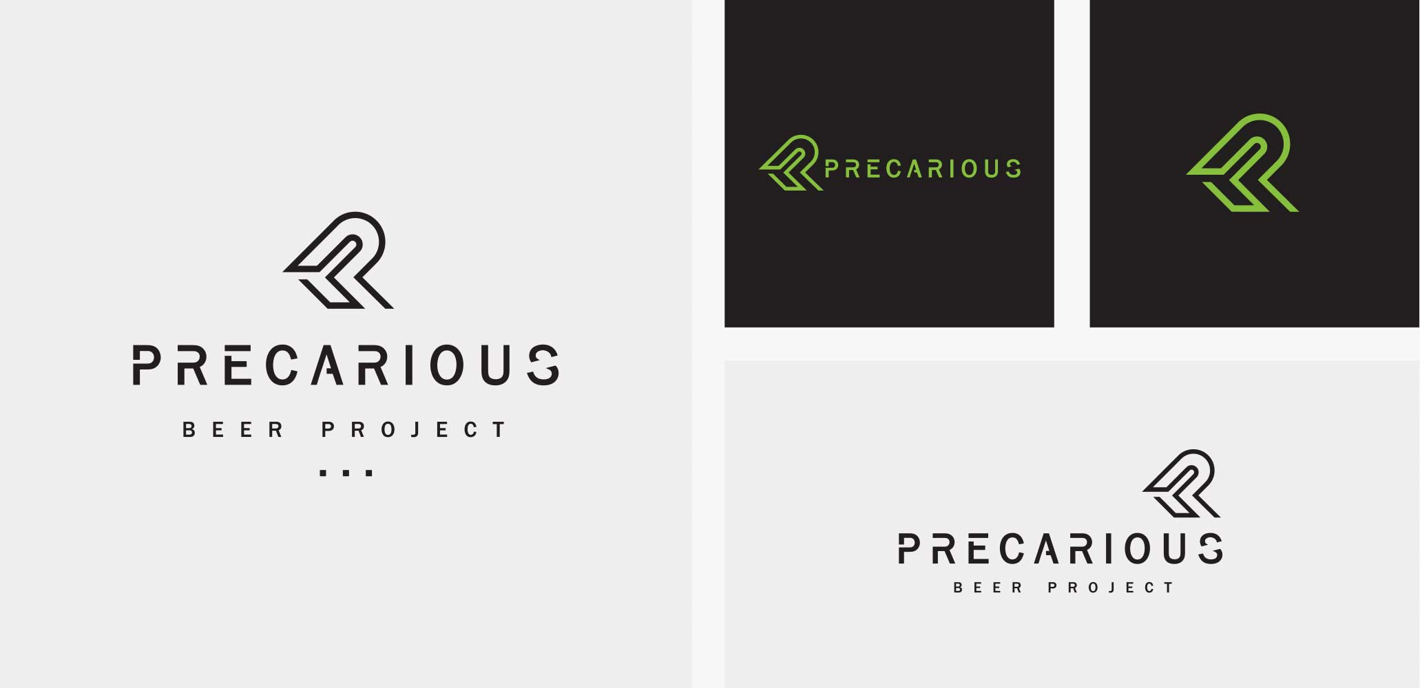 Precarious Beer Project Logo Design