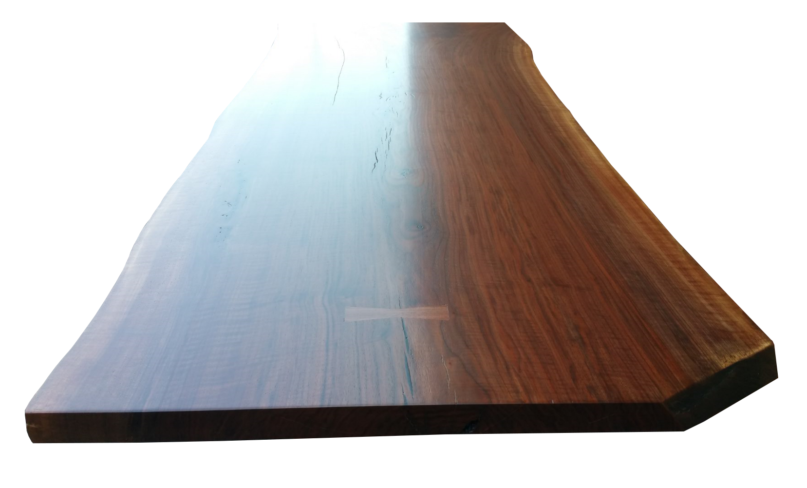American Walnut slab table cast bronze table legs brass table legs
