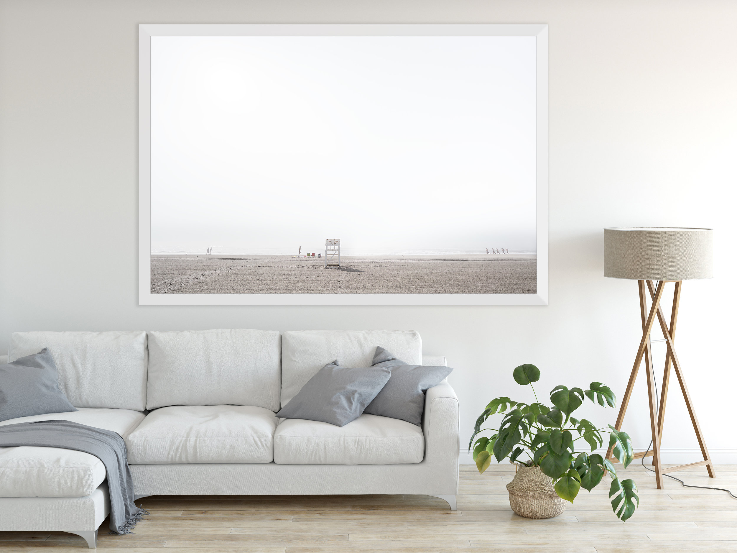'24th Street Beach' framed in white and printed on fine art paper - ©johnguillaume