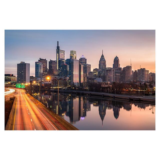 Philadelphia Skyline  I was looking forward to capturing another skyline image of Philadelphia with newly erected Comcast Technology Center (CTC) in place. I made it out on the last day of 2018. I must say, it looks great and feels balanced with the other buildings. The interior space is stunning as well. If you're in town, I would recommend dropping in and enjoy the architecture, artwork, and lunch and coffee. The Comcast Technology Center is a skyscraper in Center City, Philadelphia. The 60-floor building, with a height of 1,121 feet (342 m), is the tenth tallest building in the United States and the tallest outside Manhattan and Chicago. The tower is located on the southwest corner of 18th and Arch Streets, one block west of the Comcast Center, the headquarters of Comcast Corporation. A hotel, a Four Seasons—the highest in the country—and restaurant will be located on the top floors, while middle levels will contain offices for Comcast software developers and engineers, and the lowest levels will have television studios and retail stores.  Construction began in mid-2014, topped out on November 27, 2017, and the first personnel started moving into the building in late July 2018. . . . . . #citybestpics#longexposhots #city_explore#thecreative#seemycity#createcommune#citylimitless#longexposure #guardiancities#citykillerz #main_vision#landscape_captures#phillyphilly #gottalove_a_#philly#visitphilly#igers_philly#whyilovephilly#phillygram#sonyalpha #discoverphl#philly_visit #travelphotography #travelmore #photooftheday #cityexplore #urbanphotography #skyscraper #landscape_lover #officedecor