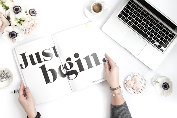 Just Begin - Talie & Dot Creative | Schedule Your Call Now