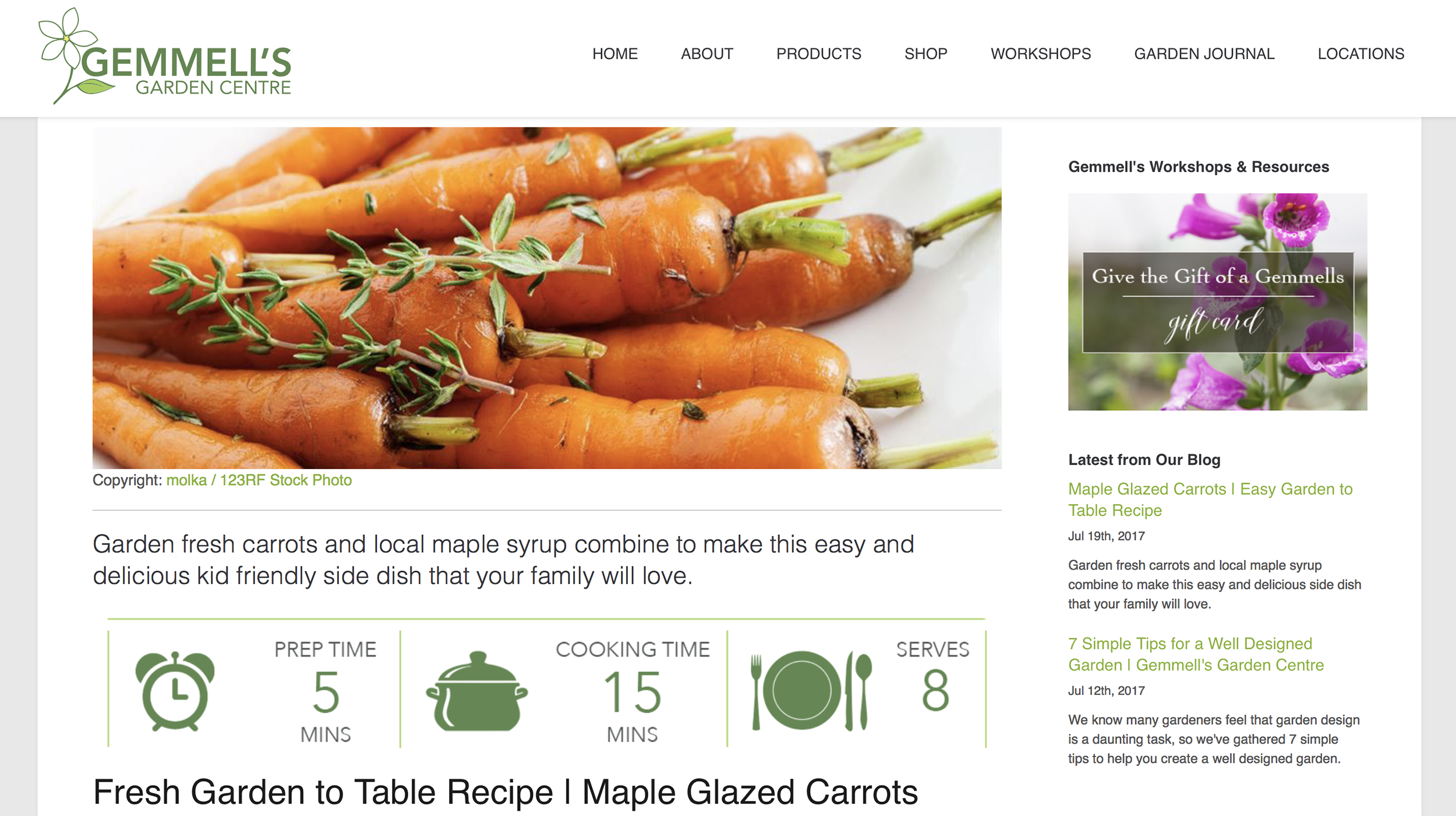 Image Depicts Graphic Design & Content Marketing Created for  Gemmell's Garden Centre  Blog. Platform: Tymbrel
