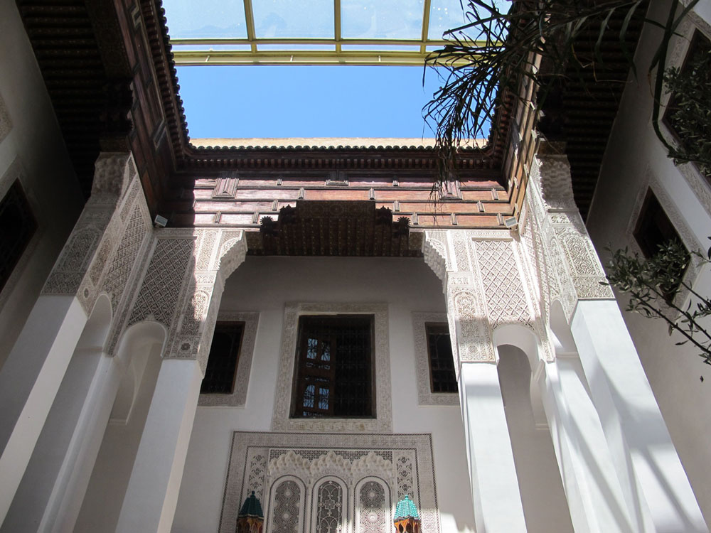 Majestic columns at Riad Dar7louyat