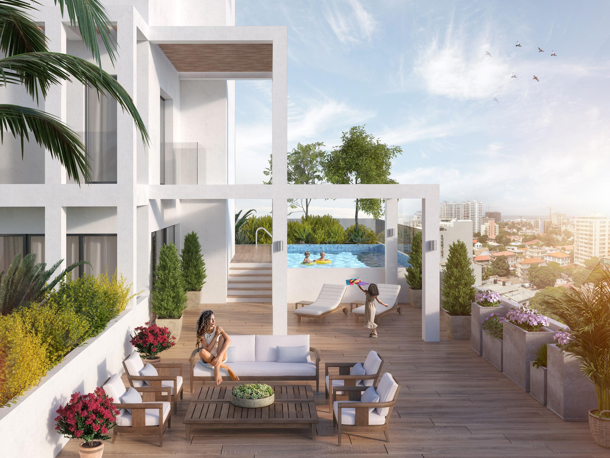 Mixed Use Building: Terrace | Algeria