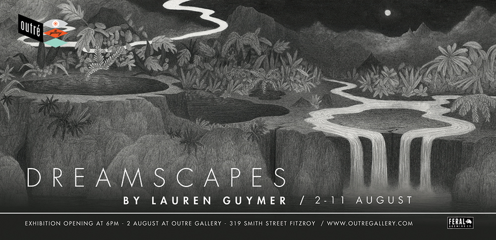 Upcoming solo show 'Dreamscapes' at Outré Gallery   Outré Gallery Website  |  Facebook Event   For updates and the show preview/catalogue  please click here , or  contact Outré Gallery  directly for any enquiries.