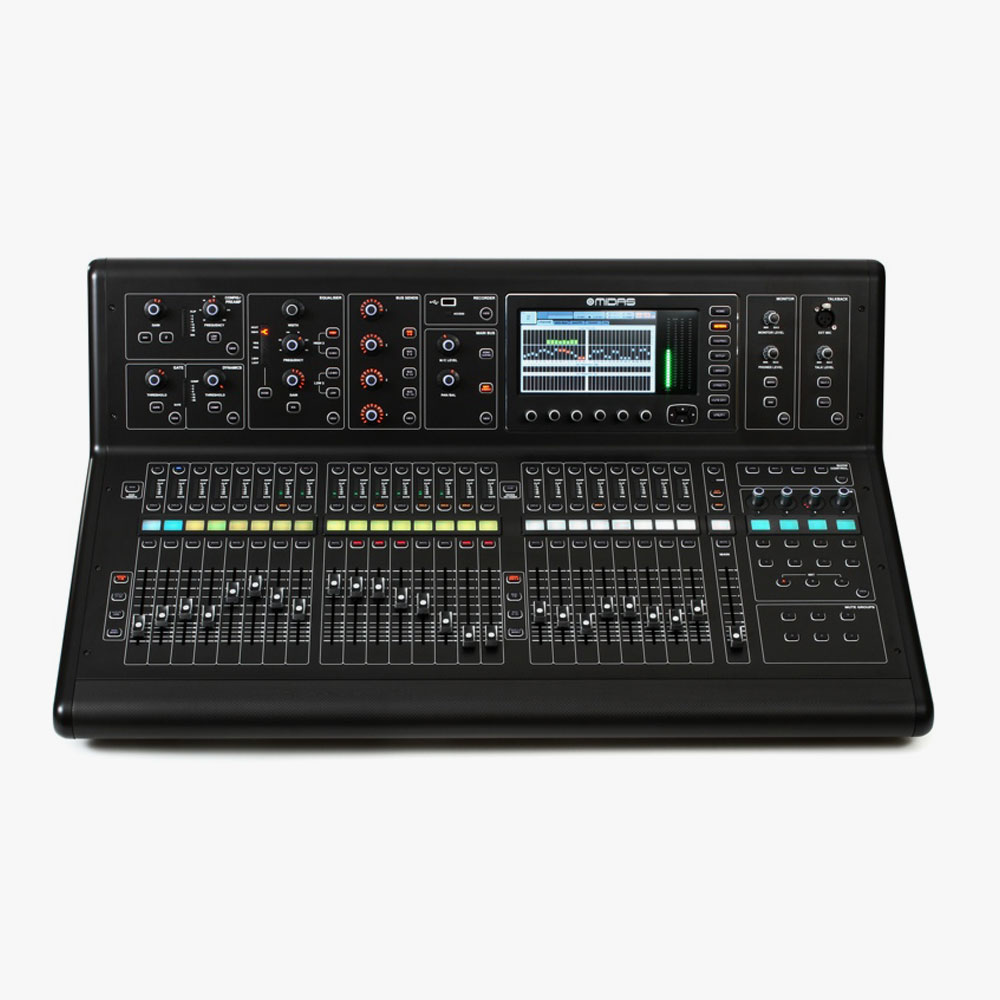 Midas M32: £135  Console, DL32 Stage Box, 50m Cat5 Cable –£210
