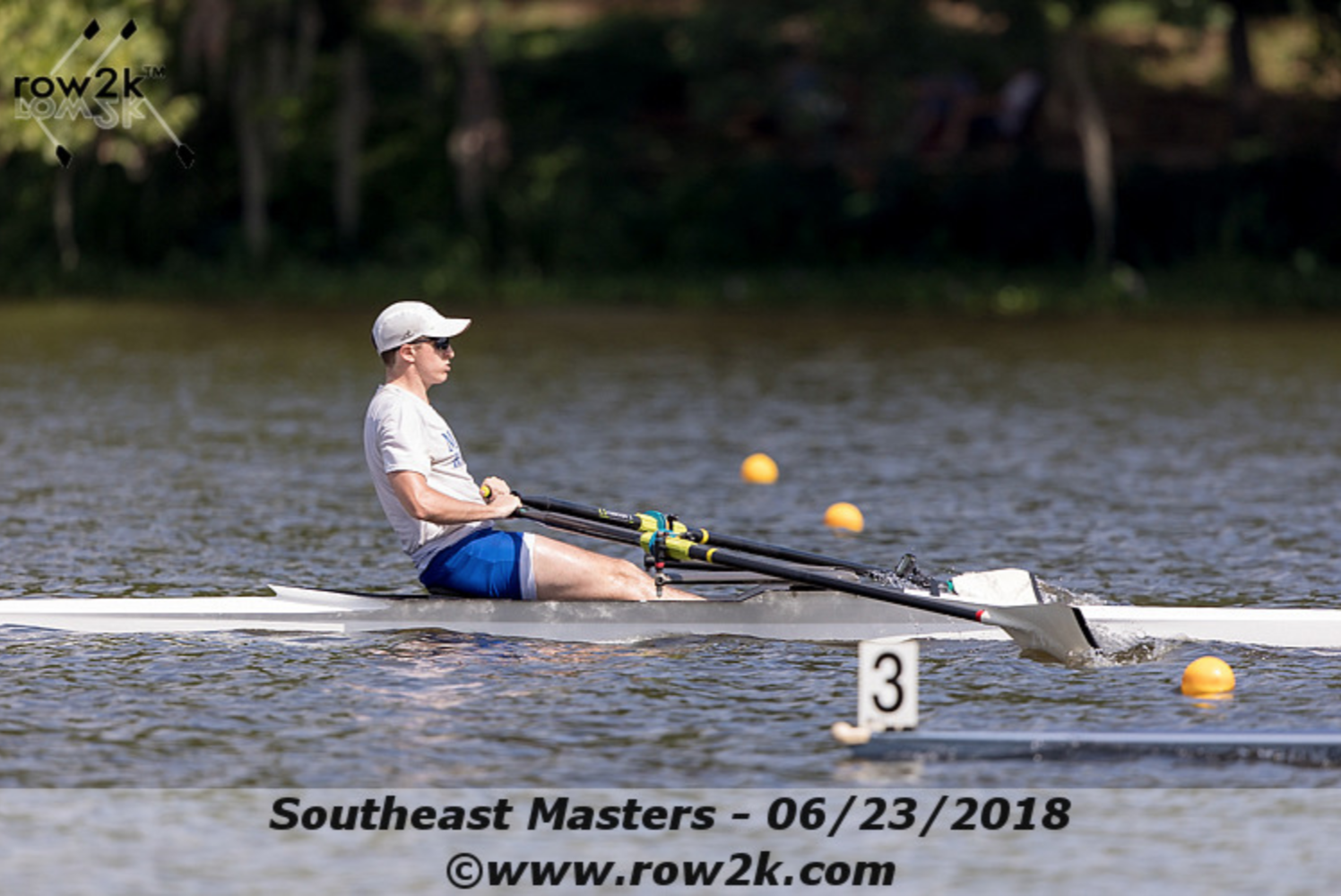 Nickels '20 on his way to winning the USRowing Southeast Masters Championships. Photo copyright Row2k.