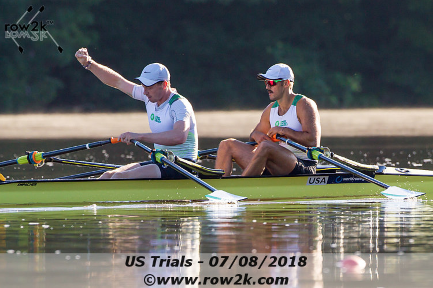John Graves '10 (bow) earned his spot on the US National Team winning trials in the Double Sculls. Photo copyright Row2k.