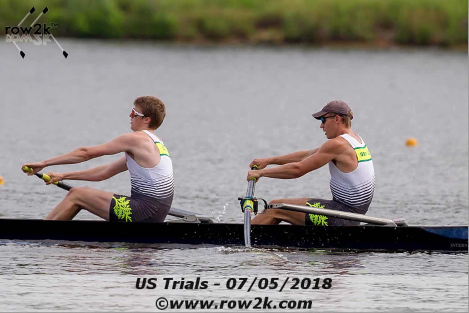 Jack Reid '20 (bow) racing for a spot on the US Under-23 National Team. Photo copyright Row2k.