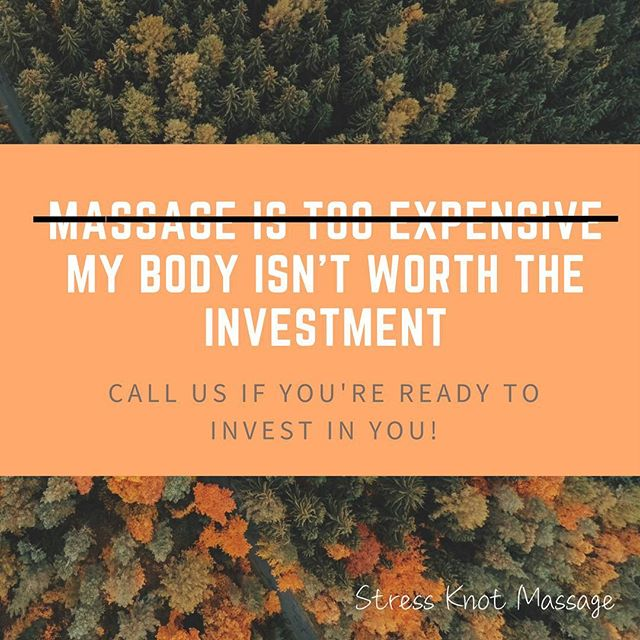 We are ready to help you invest in yourself! #massage #massagetherapy #massagetherapist #mtvernon #mtvernonil #stressknot #stressknotmassage