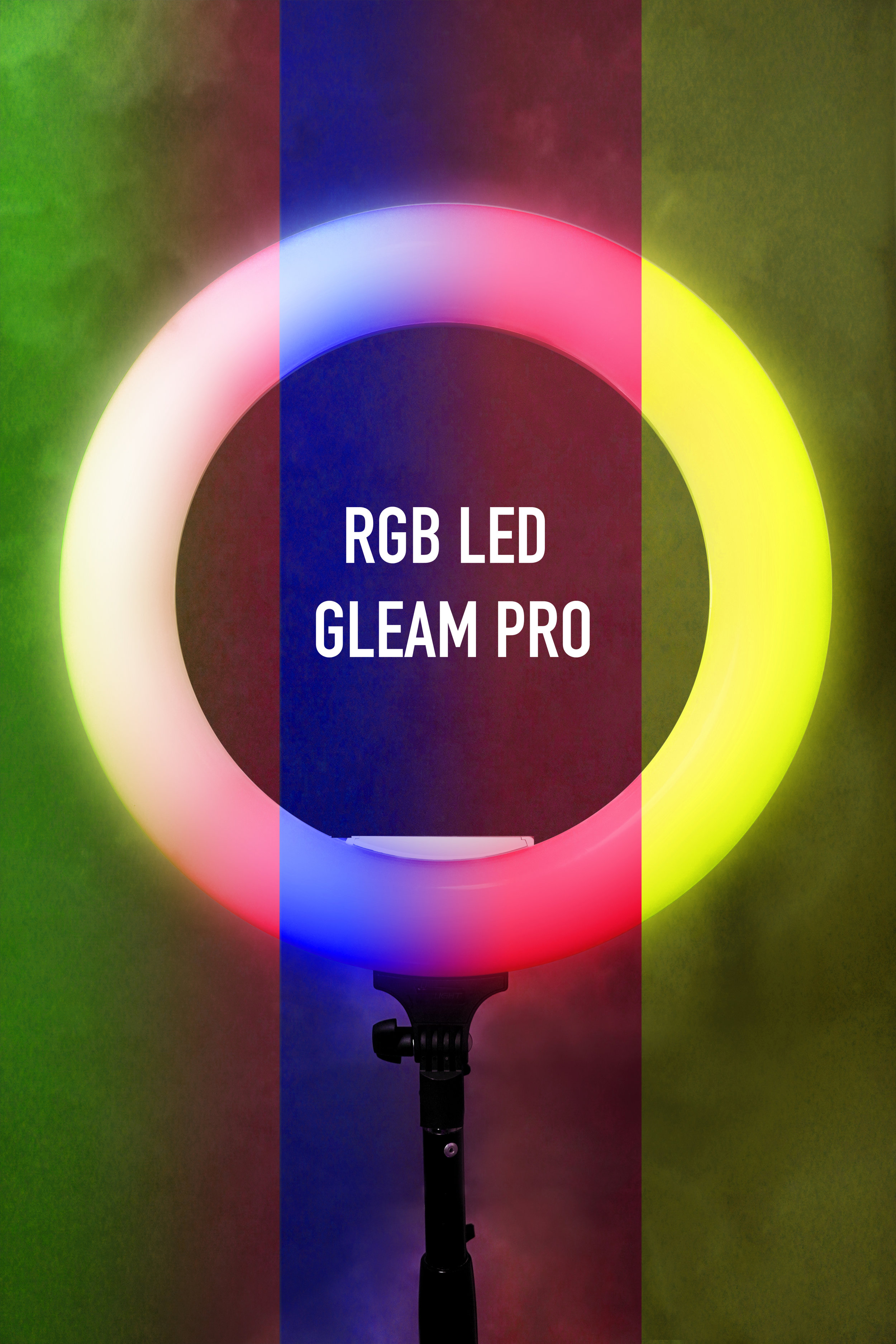 "Gleam Pro RGB 18"" - The Gleam Pro RGB light. The result is a market awash with new options and new designs, and this opens up new possibilities to the photographer, and especially to the photographer who's also doing video work. Using continuous lighting takes a different technique than using strobes and gives LED light some unique advantages. Gleam Pro RGB LED features a wide array of settings to create different moods, atmospheres, color backgrounds and special lighting effects and can still offer white and temperature effect,"