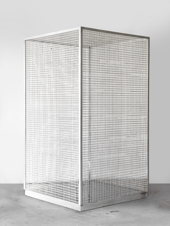 Dean Levin - Order and Disorder, 2015 - Aluminum, concrete, pigment, and water - 40 x 40 x 73 IN