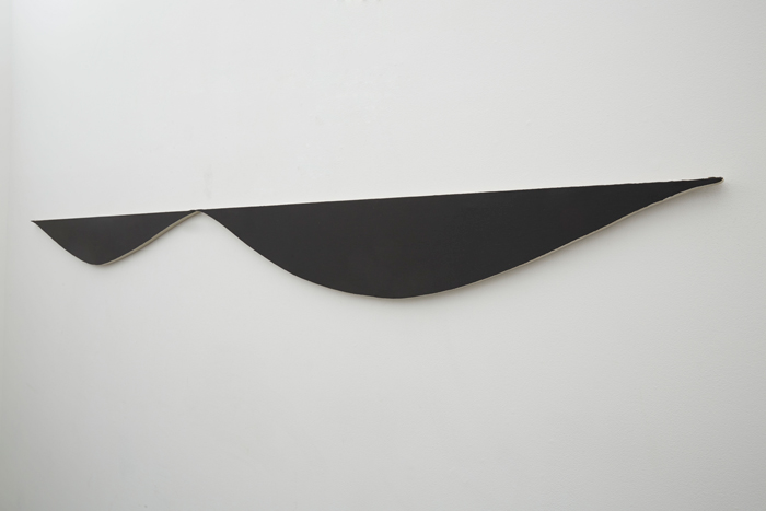 Dean Levin - 0.001, 2015 - Oil on linen on panel - Panel 1: 59 3/4 x 9 1/2 IN / Panel 2: 59 1/2 x 8 IN