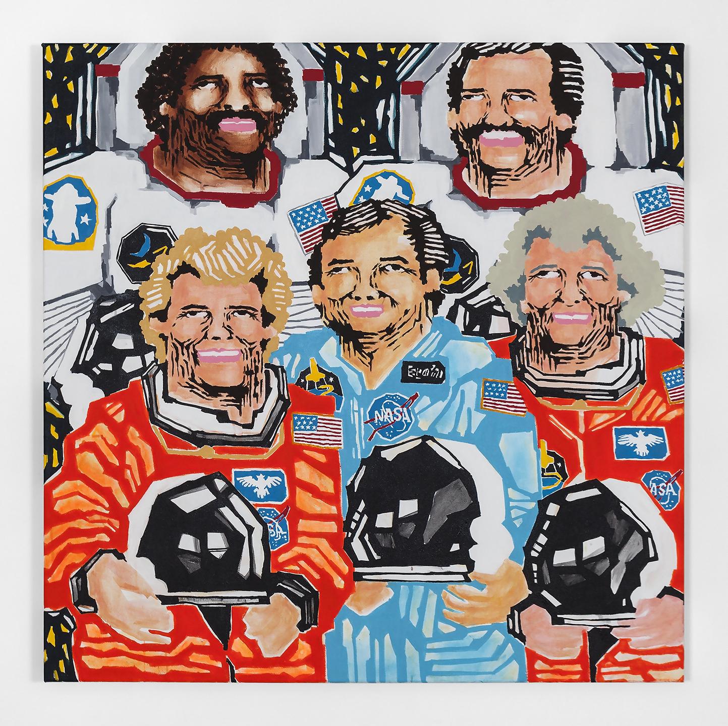 Copy of Koichi Sato Astronauts, 2017 Acrylic on canvas 50h x 50w in 127h x 127w cm KS010