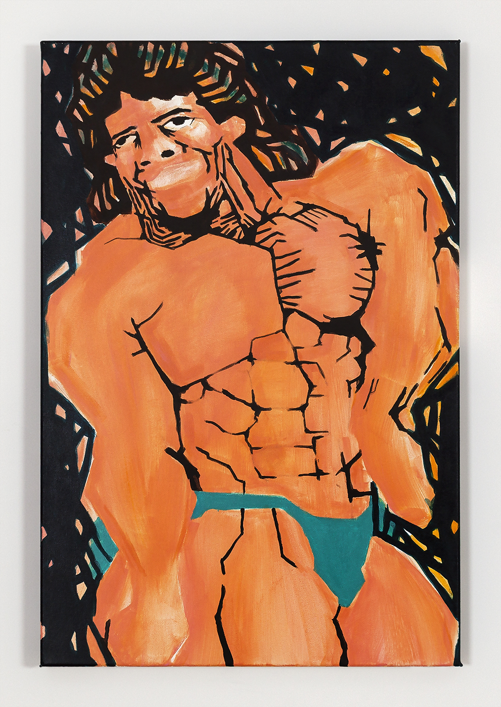 Koichi Sato Basic Muscle Pose 2, 2016 Acrylic on canvas 36h x 24w in 91.44h x 60.96w cm KS022