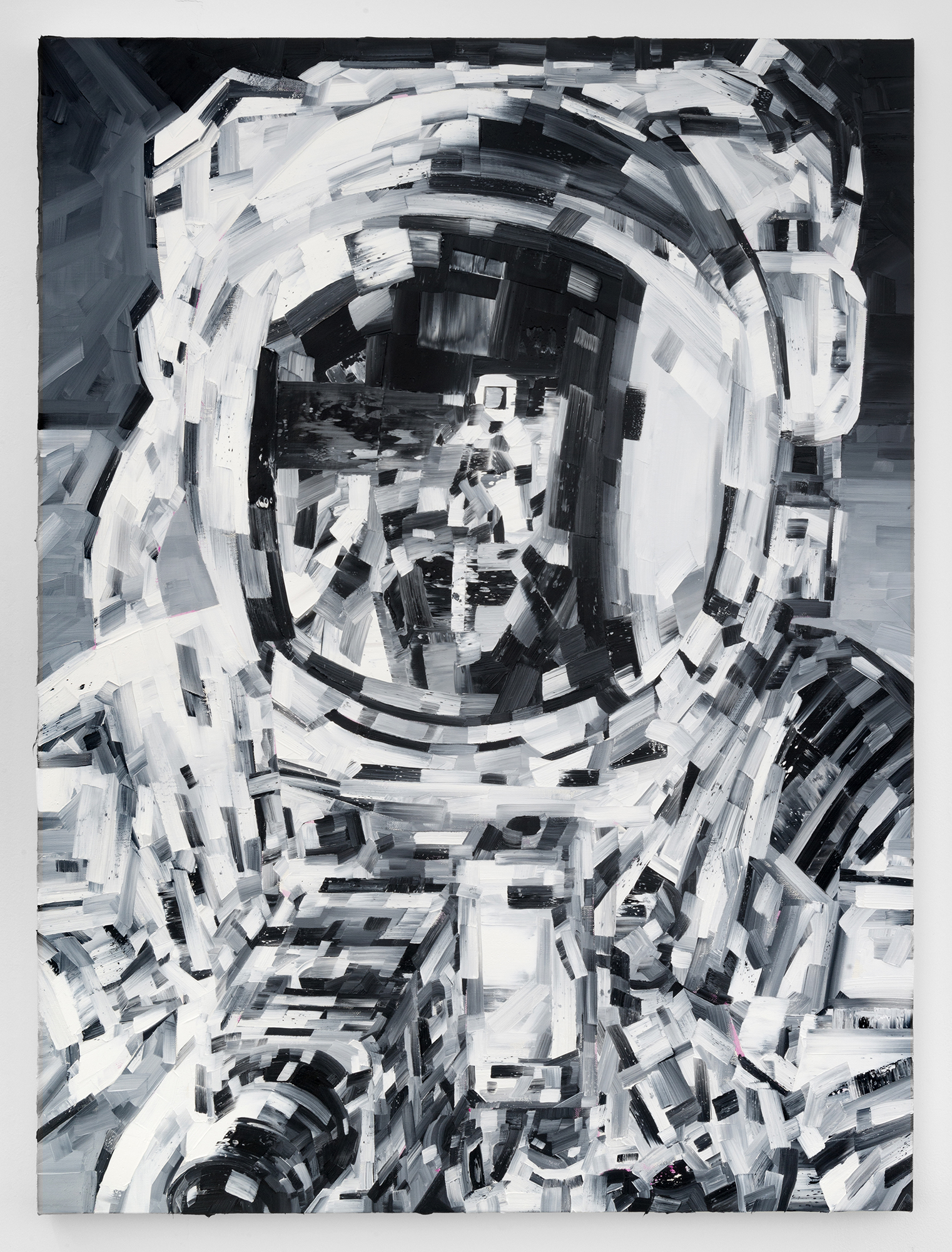 Michael Kagan  Conrad, 2018  Oil on linen  40h x 30w in  101.60h x 76.20w cm  MK003