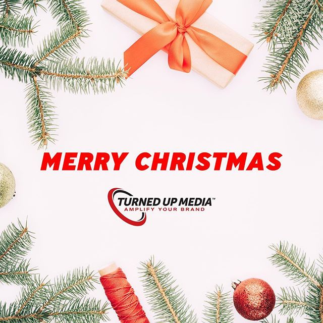 Merry Christmas from our family to yours! 🌲🎅 ···⠀ #TurnedUPMedia | Amplify Your Brand 🔊