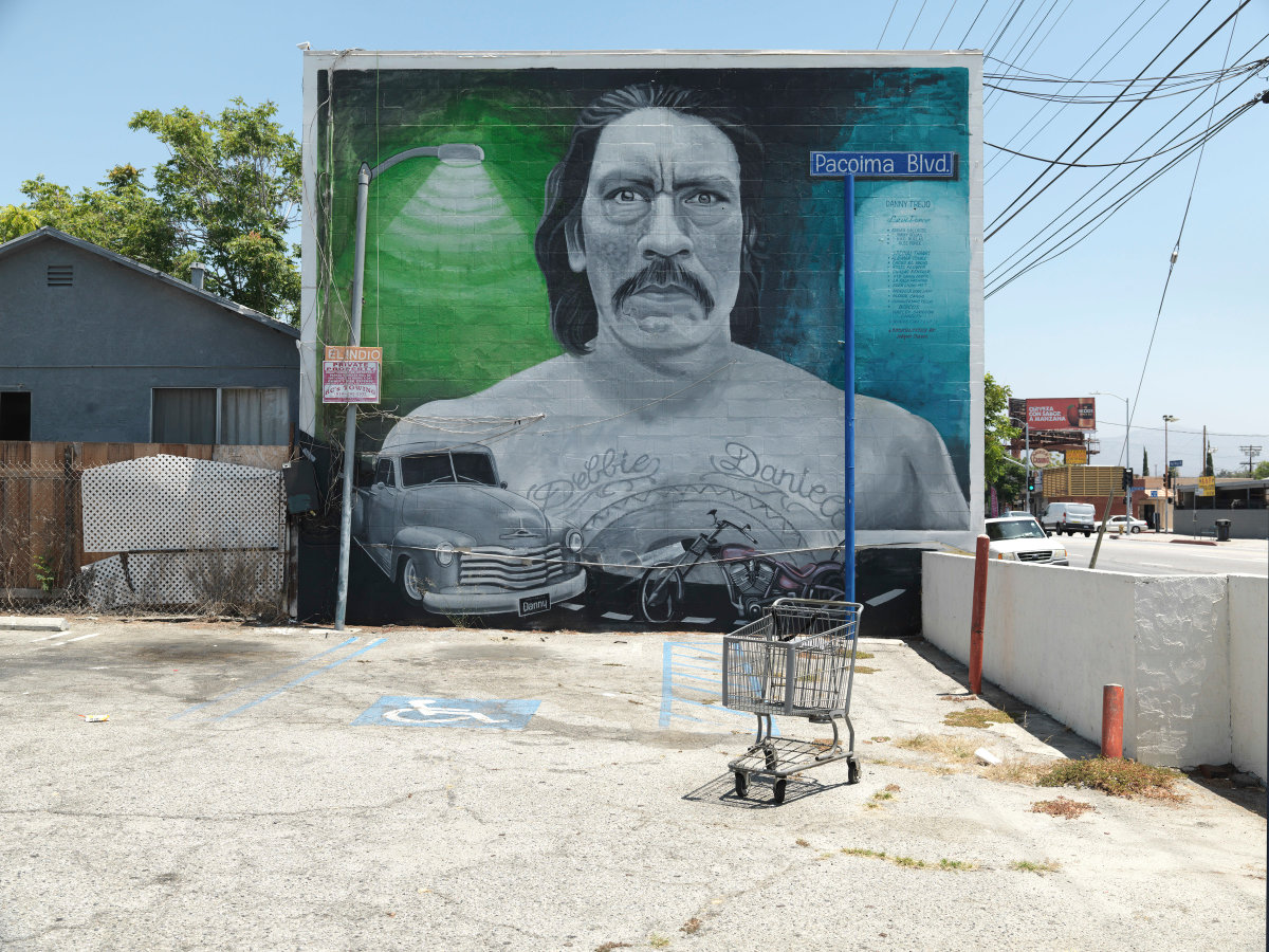 """Ken Gonzales-Day, """"Danny,"""" mural by Levi Ponce, Van Nuys Blvd., Pacoima  , 2016."""