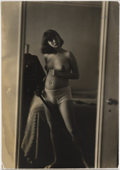 Diane Arbus, Self-portrait in mirror. 1945. The Audrey and Sydney Irmas Collection.