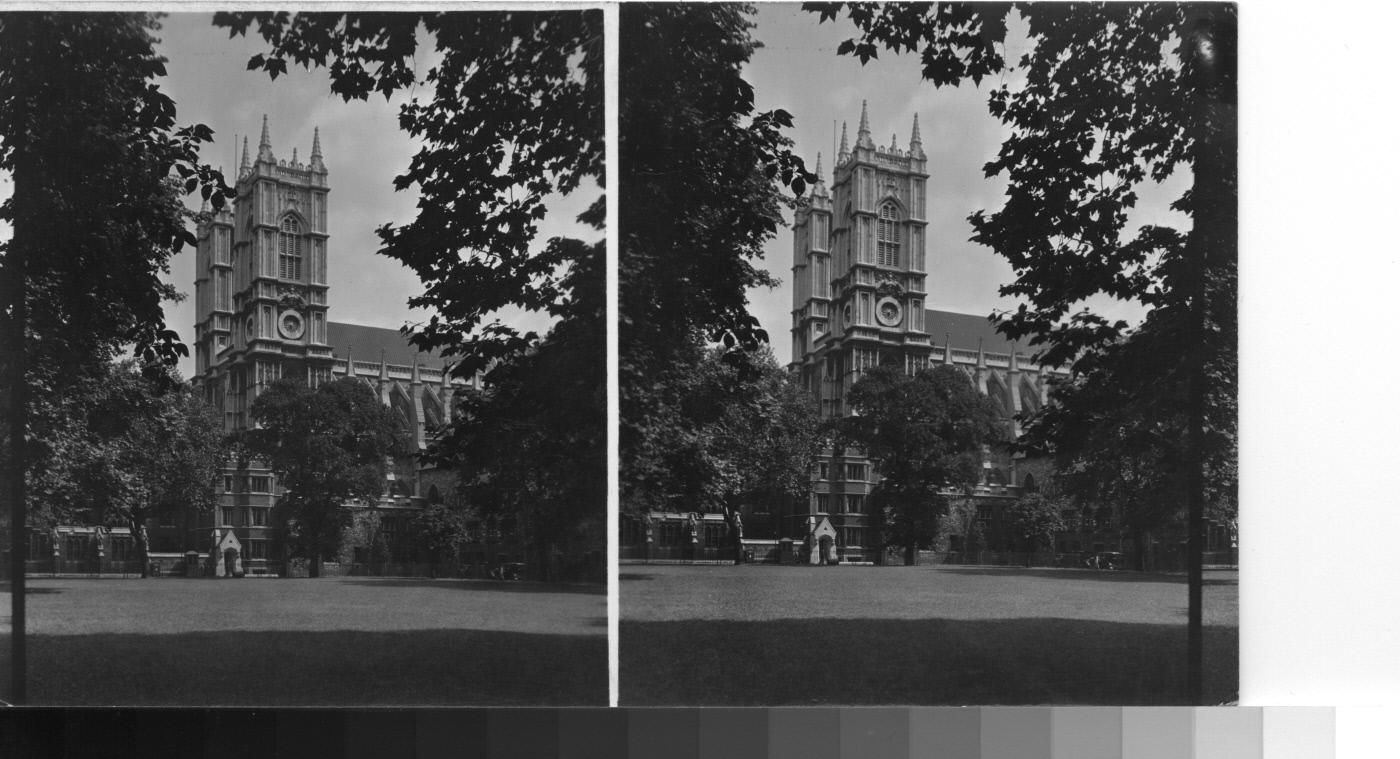George Lewis,  Westminister Abbey from Dean's Yard,  1930. Keystone-Mast Collection, UCR/California Museum of Photography, University of California, Riverside