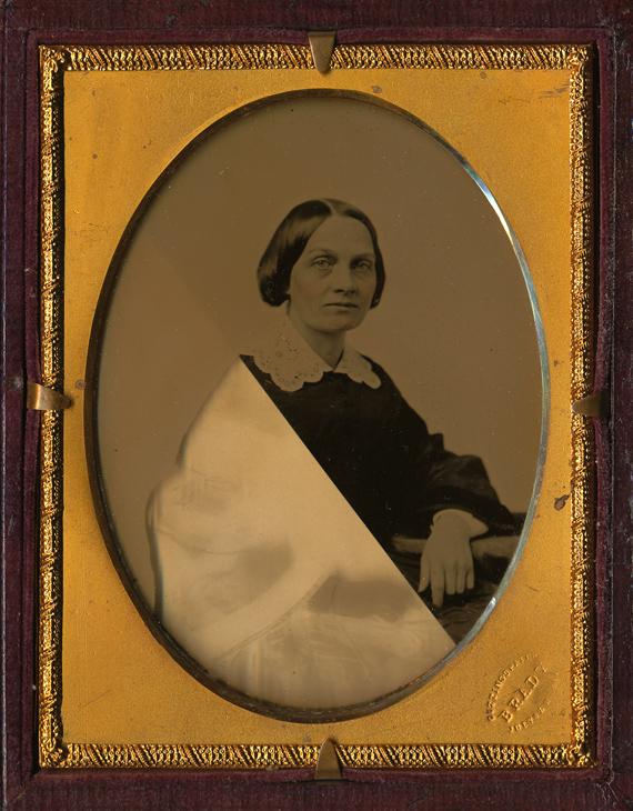 Mathew Brady. Ambrotype, C. Late 1850's. Quarter Plate.
