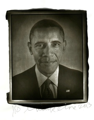 Chuck Close.  Obama, 2012 . Woodburytype Print Printed for and Published by Two Palms, NY. 2012-13.