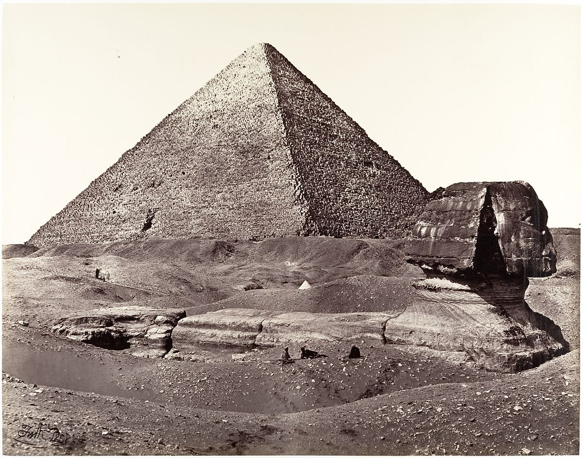 Francis Frith.  The Great Pyramid and The Great Sphinx , 1858. Albumen Print.