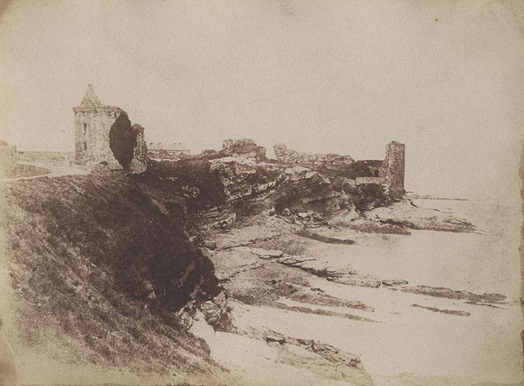 Hill & Adamson.  The Castle of St. Andrews , 1845, Salt Print.