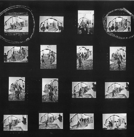 Henri Cartier-Bresson Contact Sheet (detail)  Source