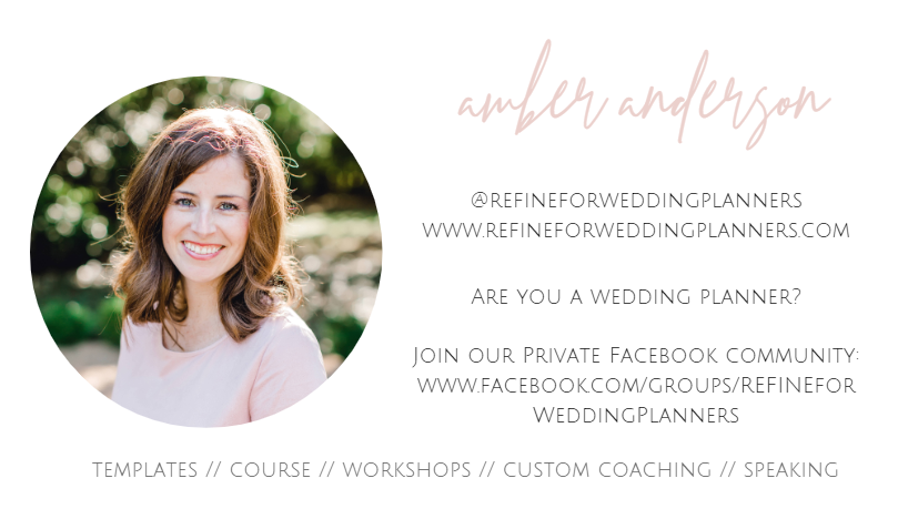amber anderson wedding planner coach