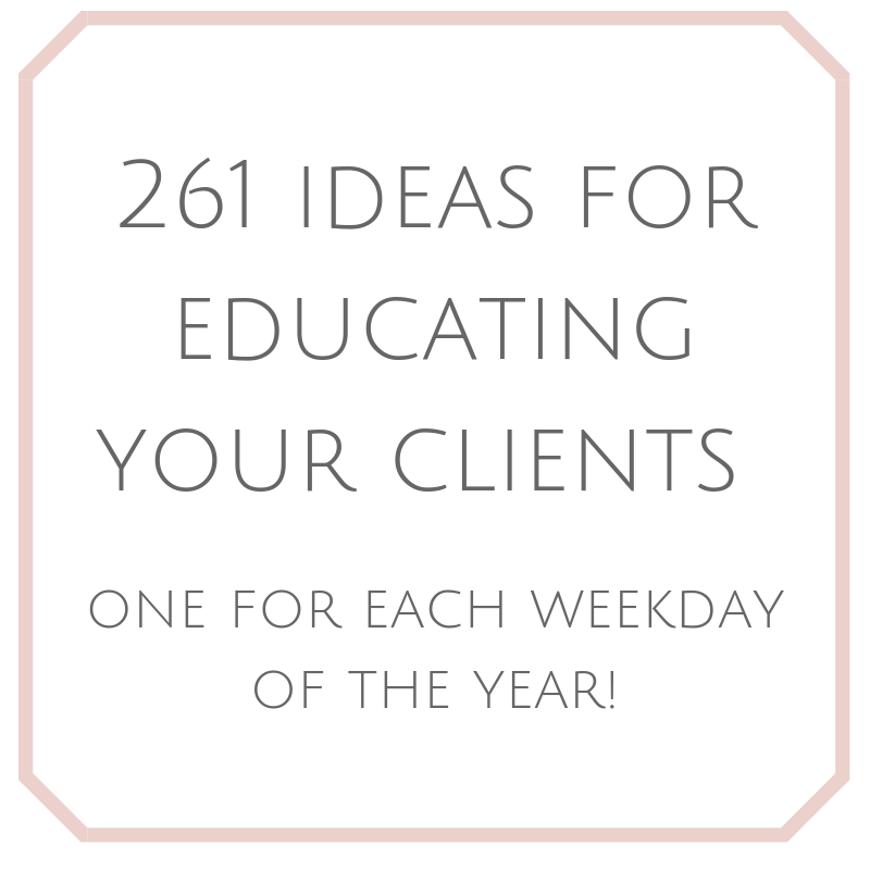 how to educate wedding clients