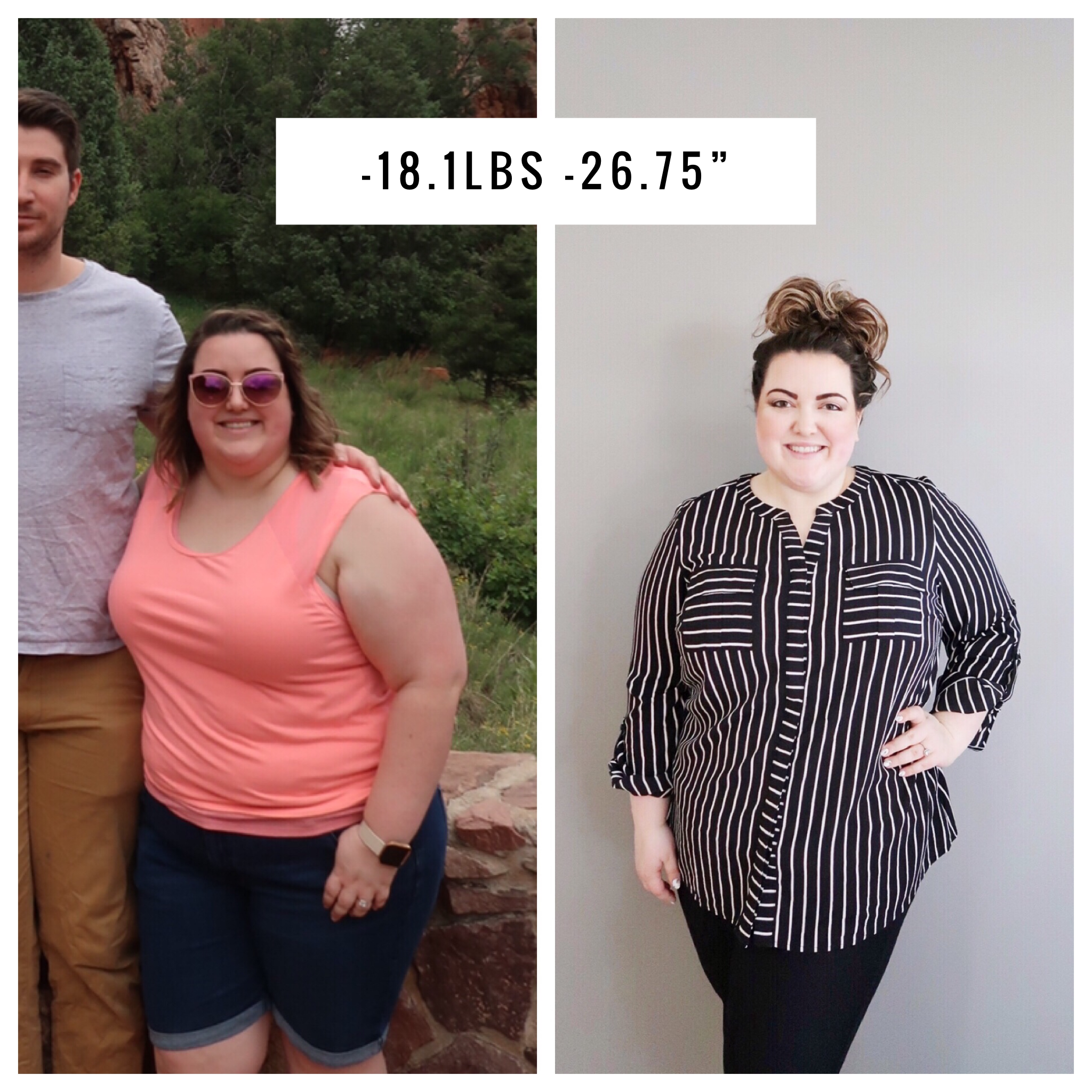 See How Abagail Lost -18.1 Pounds and -26.75 Inches in 1 Month