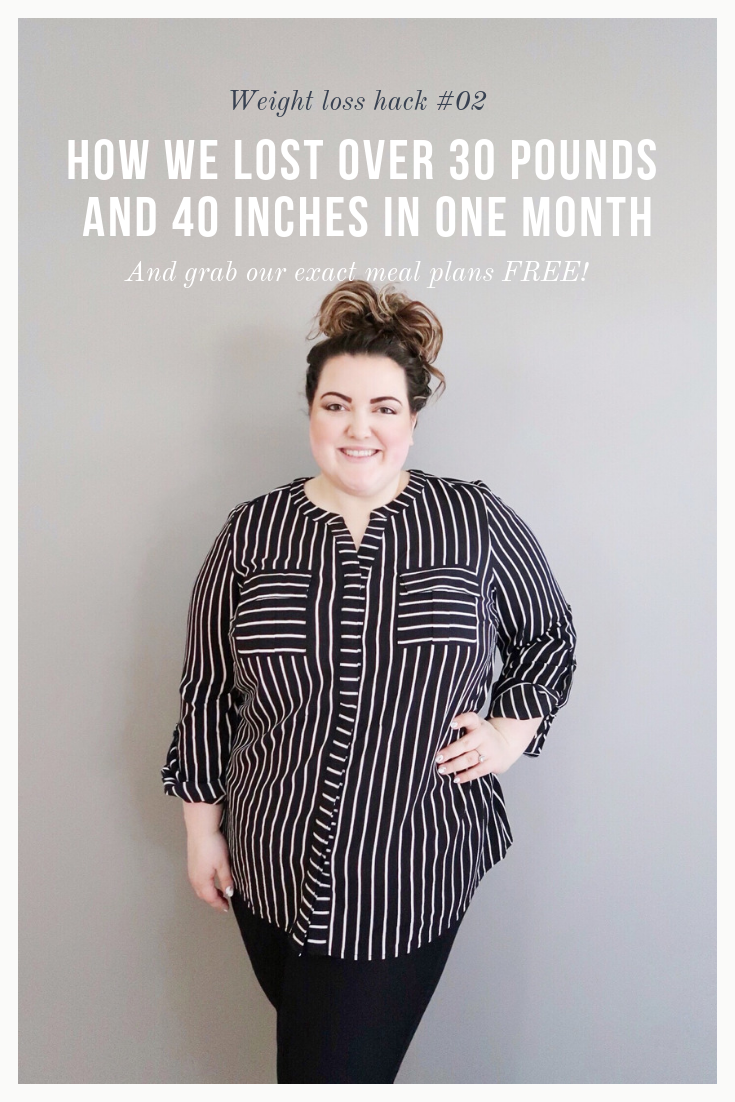 How We Lost Over 30 Pounds and 40 Inches In One Month - Get our exact Meal Plans FREE! | SimplyHomeKC.com