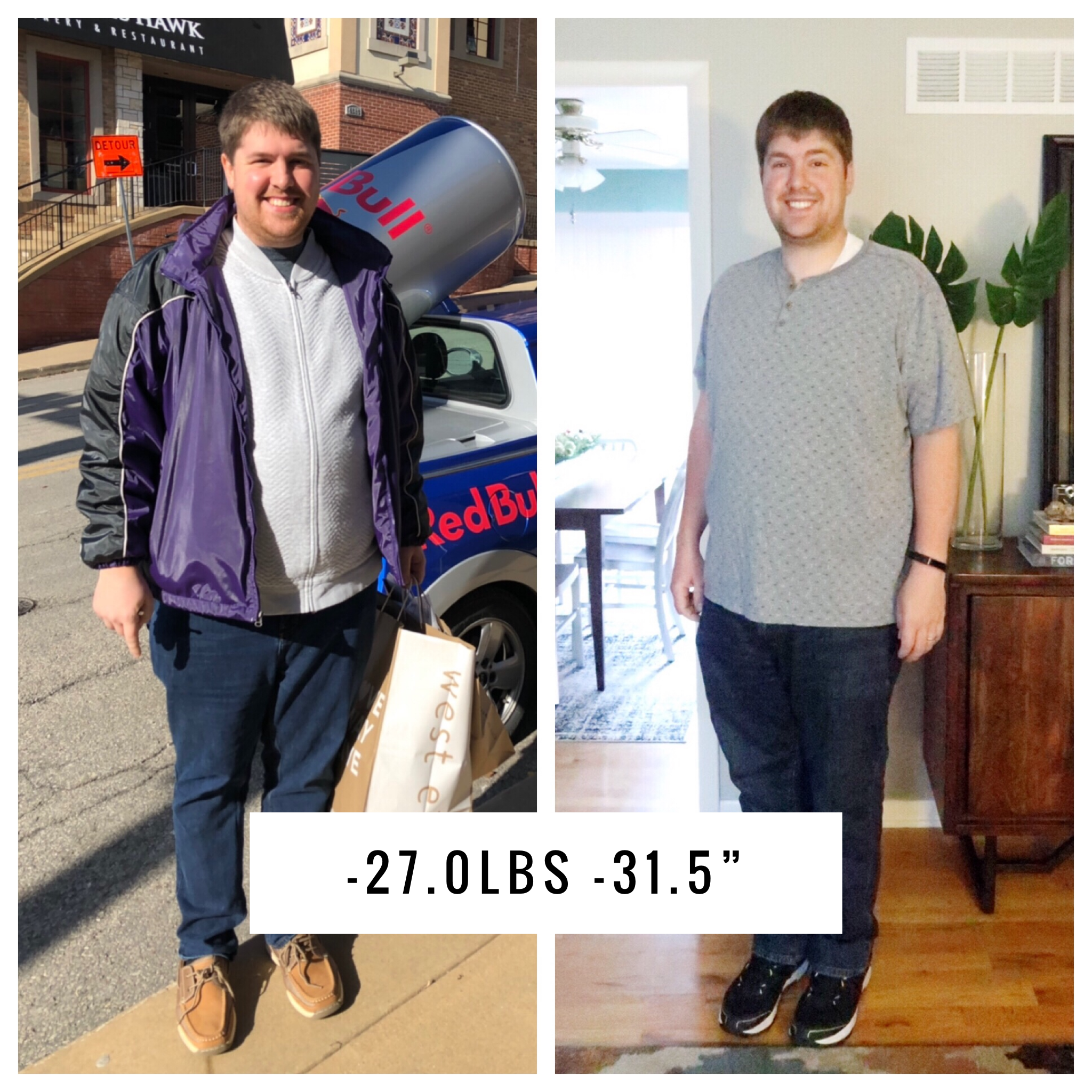 27 lbs lost in 4 months without exercise - Jared Pumphrey, Simply Home