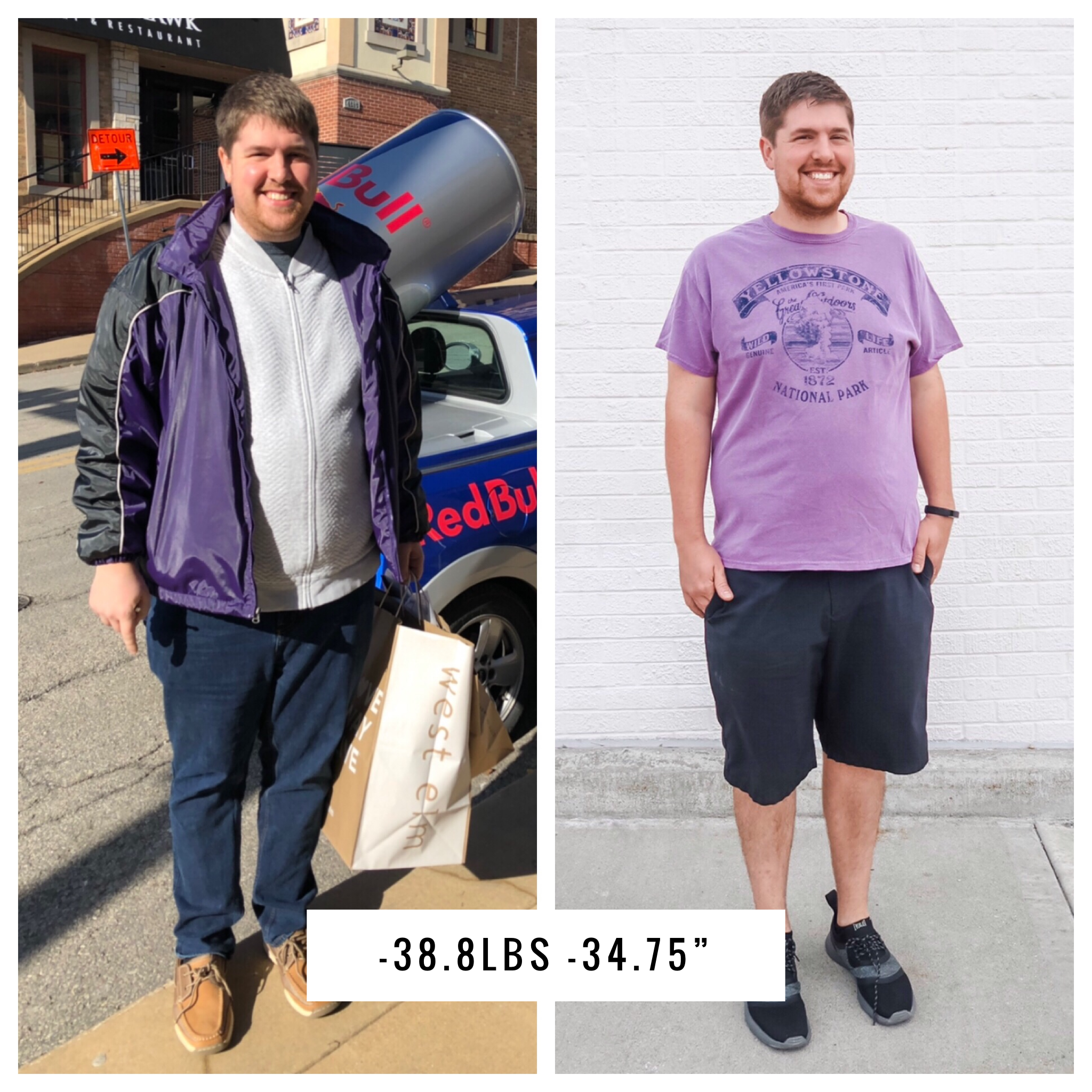 Losing 35 Pounds - Before and After