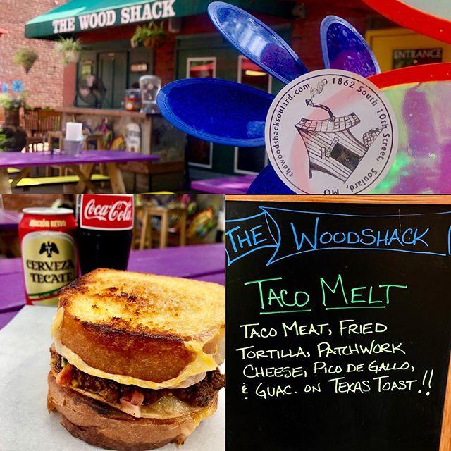 Taco melt time!! 🤗 @cdelgado63117 @woodshacksoulard @cdelgado63117 #taco #sandwich #yummy #yes