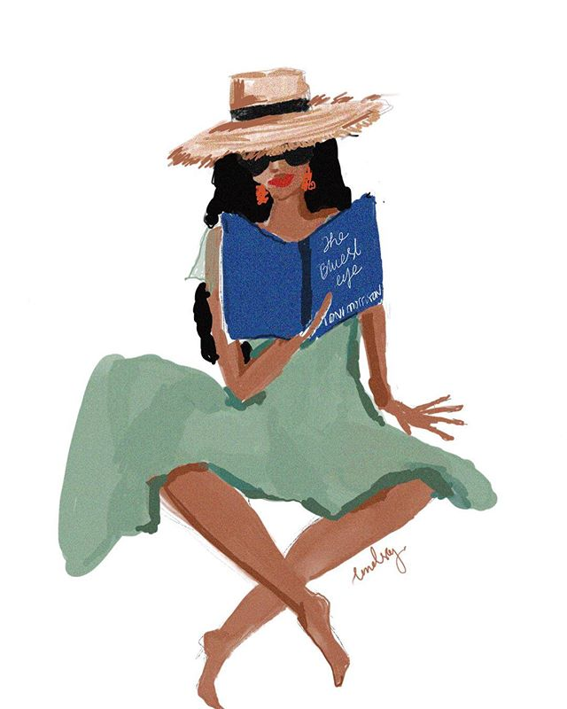 | Reminiscing on the years I shed turning the pages of Toni Morrison's gripping novels. Rest in Sweet Peace. #tonimorrison #ipaintinheels @womenillustratorsofcolor @thewomenwhodraw @acreativedc