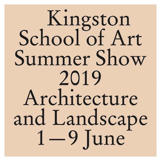 06/19 Kingston University School of Art Architecture and Landscape Summer Show is open 1-9 June. @ku_archland Work by Unit 7: Ben Stripe, Kate Ivinson, Youjin Cui, Joshua Southern, Kziza Caringal Ilagan, Alfred Osei, Chloe Hsu, Bianca-Maria Marcu, Nana Ewusi, Mara-Cezar Maris, Miles Borg. #mathesonwhiteley #kingstonschoolofart #kingstonuniversity