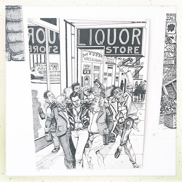 Stop by @institute193 in Lexington and check out Zane Campbell: Alcoholic Janitor, an exhibition of illustrations by Maryland-based outsider artist and singer-songwriter Zane Campbell. These drawings are taken from his autobiography and provide a glimpse of the seedy NYC underbelly circa 1978 (before Koch and Giuliani turned it into a yuppie police state). Running until February 12; for fans of Bukowski, Hank Williams, GG Allin, and William Blake. Date for reception/live performance coming soon.