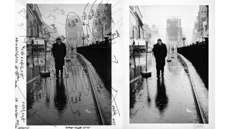 A before and after example of the type of darkroom adjustments that were made on photos prior to computer post-processing. This image was manipulated by Pablo Inirio, a master printer for Mangum Photos and found online through  Gizmodo