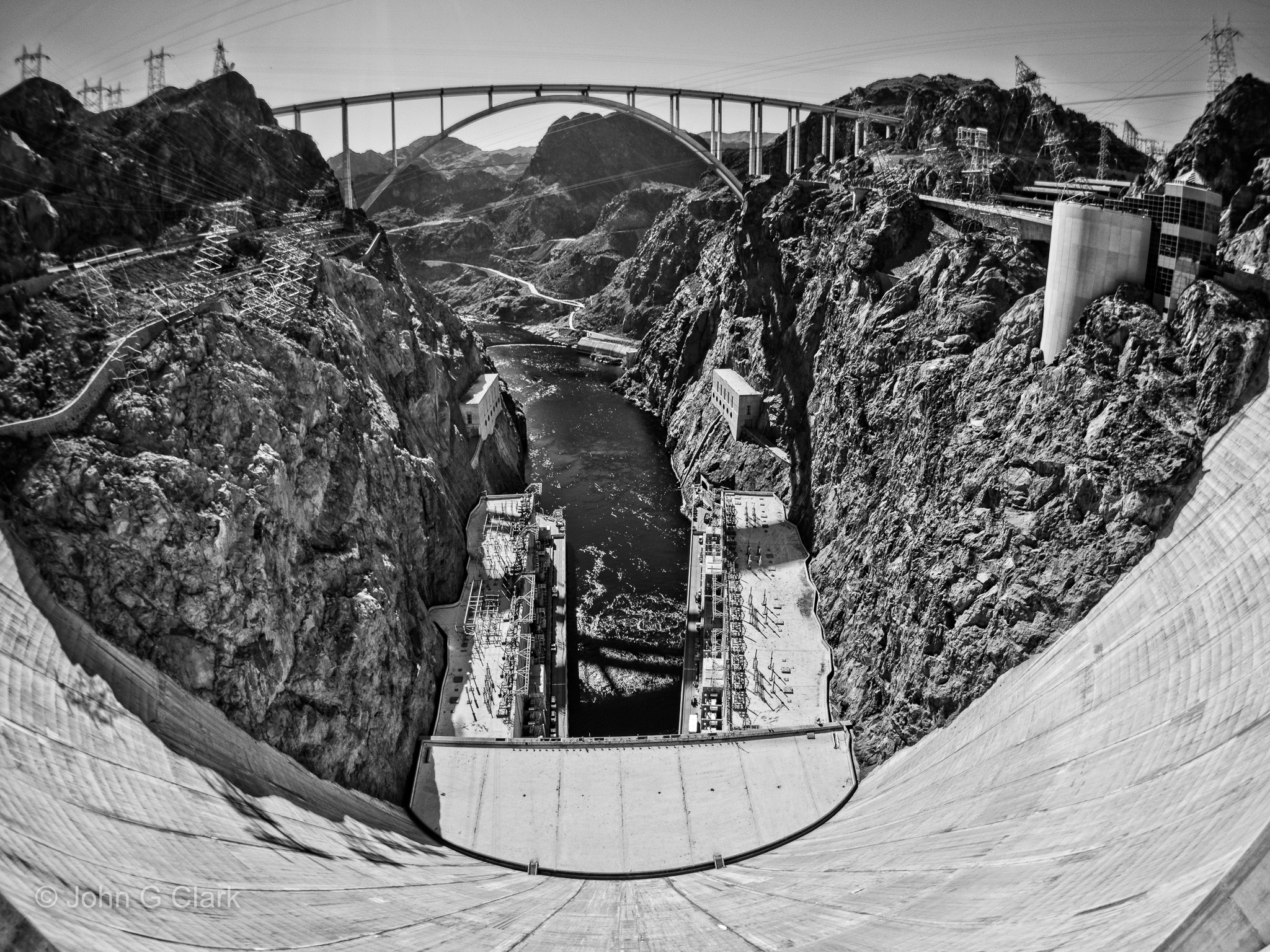 ON1 RAW 2018 has a fantastic set of Effects filters and presets to convert an image to BW, such as this shot from Hoover Dam